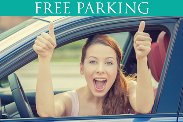 Free customer parking in our 2 car parks on Lower Kilmacud Road